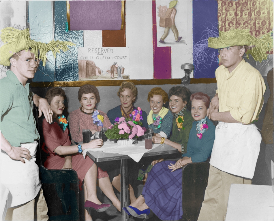 1957 Colorized Chili Queen Candidates